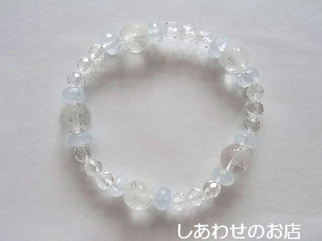 アクアマリン/水晶・龍10mm